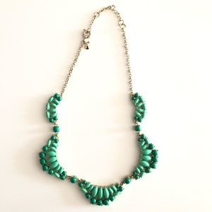 Jcrew Green Beaded Necklace